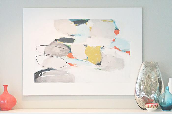 "DIY ""Faux Frame"" Modern Art Canvas + Home Depot Giveaway - Studio ..."